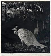 Sale 8443 - Lot 567 - Lionel Lindsay (1874 - 1961) - Autumn (Peacock) October 18, 1929 15 x 14.5cm