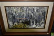 Sale 8497 - Lot 2077 - A. J. Beves, Nature Takes Over, mixed media on board, frame size: 80 x 109cm, signed lower right