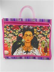 Sale 8514H - Lot 21 - Frida Kahlo Tote Bag w zip pocket & short handle