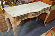 Sale 8550 - Lot 1549 - Rustic Timber Bow Front Hall Table with Three Drawers