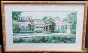 Sale 8587 - Lot 2089 - Theo Hutter - Summer House, pastel, 25.5 x 51cm; 41 x 66.5cm (frame), signed lower right