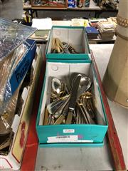 Sale 8759 - Lot 2385 - 2 Boxes of Plated Cutlery