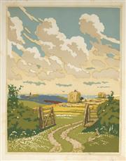 Sale 9078A - Lot 5076 - John Hall Thorpe (1874-1947) (2 works) - The Open Gate (pair) 35.5 x 28 cm (sheet: 38.5 x 30.5 cm)