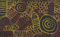 Sale 9184A - Lot 5041 - ATTRIBUTED MINNIE PWERLE (1922 - 2006) Awelye acrylic on canvas 75 x 120 cm (stretched and ready to hang) unsigned.