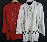 Sale 7982B - Lot 31 - Two 3/4 length Australian leather jackets with gold buttons