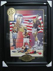Sale 8125 - Lot 85 - Limited edition print of Ali, signed by the artist numbered 218/950