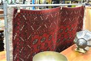 Sale 8147 - Lot 1020 - Afghan Turkoman in Black and Red Tones ( 184 x 100)