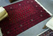 Sale 8205 - Lot 91 - A royal bokhara carpet in red and black tones, approx 128 x 170cm