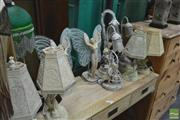 Sale 8328 - Lot 1063 - Collection of Ten Table Lamps incl. Fairies