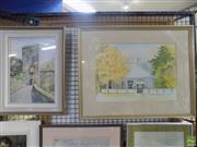 Sale 8563T - Lot 2208 - 2 Works: Lorrie Everett, Country Home, Watercolour, 31 x 43cm, SLR, & Another Decorative Framed Watercolour Painting