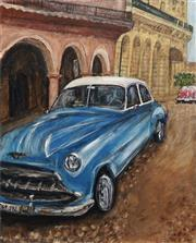 Sale 8732A - Lot 5004 - Stanley Perl (1942 - ) - Cars of Cuba II 60 x 50.5cm