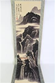 Sale 8902C - Lot 632 - A Mountain Scene Chinese Scroll
