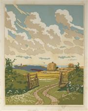 Sale 9078A - Lot 5077 - John Hall Thorpe (1874-1947) (2 works) - The Open Gate (pair) 35.5 x 28 cm (sheet: 38.5 x 30.5 cm)