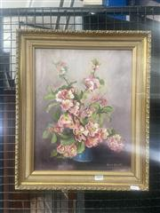 Sale 9069 - Lot 2001 - Muriel Elliot Apple Blossoms, oil on board, Frame: 47 x 39 cm, signed lower right