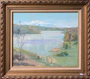 Sale 9077 - Lot 2013 - Artist Unknown A Sydney Harbour Scene oil on board, frame:70 x 81cm, unsigned -