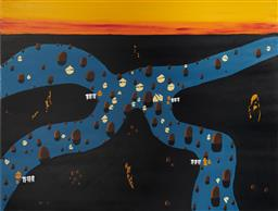 Sale 9170A - Lot 5099 - DOUG FRITH Diagnosing Life, 2020 acrylic on canvas 92 x 122 cm signed and dated lower left, titled verso