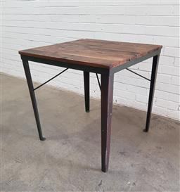 Sale 9108 - Lot 1035 - Industrial style occasional table (h78 x d78cm)