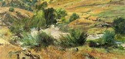 Sale 9134H - Lot 38 - Robert Pengilley (1944 - ) Gold Creek, Adelong, 1989 oil on canvas 101 x 213.5 cm signed, dated and inscribed lower right