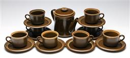 Sale 9253 - Lot 263 - A set of eight Mikasa duos together with a teapot (H:16cm - teapot)