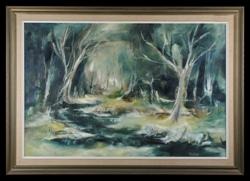 Sale 7923 - Lot 595 - Ken Taber - Untitled (Landscape) signed lower right