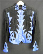 Sale 7982B - Lot 136 - Diamond Leathers, Cowboy style leather and suede fringe jacket with stud detail (M)