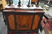 Sale 8328 - Lot 1065 - Marble Top Hall Cabinet with Single Door