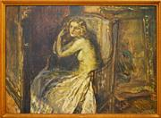 Sale 8334 - Lot 595 - Lajos Mark (1867 - 1942) - Untitled (Seated Woman) 70 x 100cm
