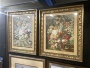 Sale 8898 - Lot 2061 - Joseph Nigg (1782 - 1863) (Two Works) - Florals 81 x 69 cm and 84 x 69 cm
