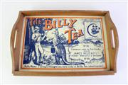Sale 8944 - Lot 5 - The Billy Tea themed timber tray (W49cm)