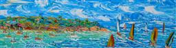 Sale 9031A - Lot 5028 - Evan Mackley (1940 - 2019) - Heading for Open Water 15 x 50 cm
