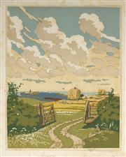 Sale 9078A - Lot 5078 - John Hall Thorpe (1874-1947) (2 works) - The Open Gate (pair) 35.5 x 28 cm (sheet: 38.5 x 30.5 cm)