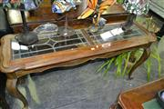 Sale 8093 - Lot 1345 - Glass Top Hall Table