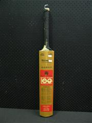 Sale 8200A - Lot 3025 - Centenary Test Bat, signed to reverse by 12 Australian incl Chappel, Marsh & Lillie; and 16 of Tony Greigs English Team. No. 17 of 250