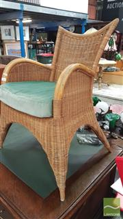 Sale 8404 - Lot 1061 - Cane & Wicker Chair
