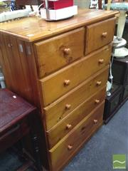 Sale 8412 - Lot 1070 - Pine Chest of Six Drawers