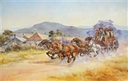 Sale 8513A - Lot 5039 - DArcy Doyle (1932 - 2001) - Travelling Accross Country 61 x 91.5cm