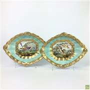 Sale 8649 - Lot 38 - Derby Pair Of Shallow Dishes C.1800