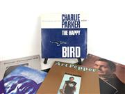 Sale 8715 - Lot 27 - Box Of Records Incl Charlie Parker And Oscar Peterson (Approx 80 Records)
