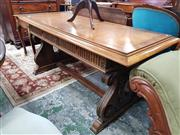 Sale 8831 - Lot 1041 - Refectory Style Table with Later Inlaid Top