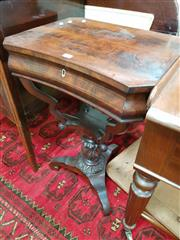 Sale 8831 - Lot 1071 - Early Victorian Rosewood Works Table