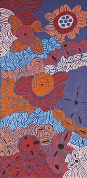 Sale 8862A - Lot 512 - Glenys Gibson Nungurrayi (1968 - ) - Womens Ceremony 200 x 98cm (stretched and ready to hang)