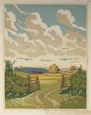 Sale 9078A - Lot 5079 - John Hall Thorpe (1874-1947) (2 works) - The Open Gate (pair) 35.5 x 28 cm (sheet: 38.5 x 30.5 cm)