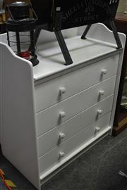 Sale 8058 - Lot 1077 - Boori White Painted Four Drawer Nursery Chest