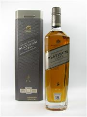 Sale 8290 - Lot 470 - 1x Johnnie Walker Platinum Label 18YO Blended Scotch Whisky - 750ml in box