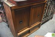 Sale 8390 - Lot 1033 - Japanese Elm & Pine Tansu, with two larger & two smaller sliding doors