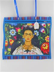 Sale 8514H - Lot 25 - Frida Kahlo Tote Bag w zip pocket & long handle