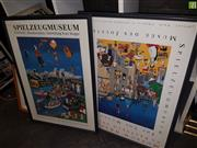 Sale 8563T - Lot 2121 - Spielzeug Museum Posters (2) 87 x 63 (frame)