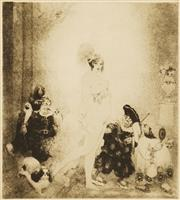 Sale 8645 - Lot 2016 - Norman Lindsay (1879 - 1969) Impressed Facsimile - Sortie 22 x 20cm