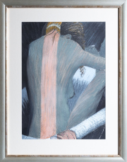 Sale 8677B - Lot 561 - Artist unknown, The Embrace, pastel on paper, 56 x 41cm