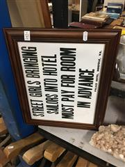 Sale 8702 - Lot 2454 - Hotel Sign